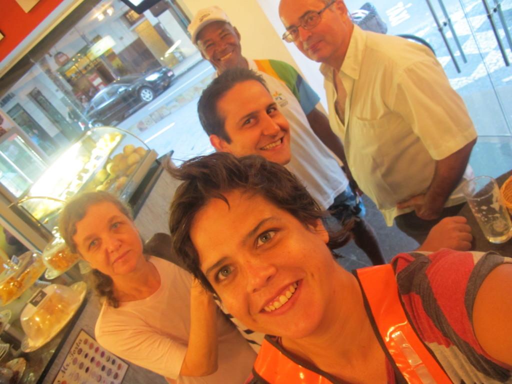 Da esquerda pra direita: Maysa Blay - Tatiana Carvalho João Peixoto (no centro) Reinaldo e Jayme